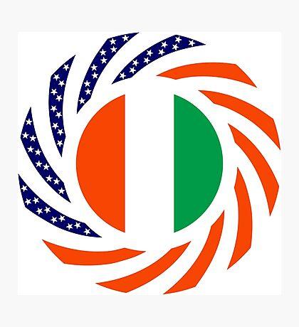 Ivory Coast American Multinational Patriot Flag Series Photographic Print