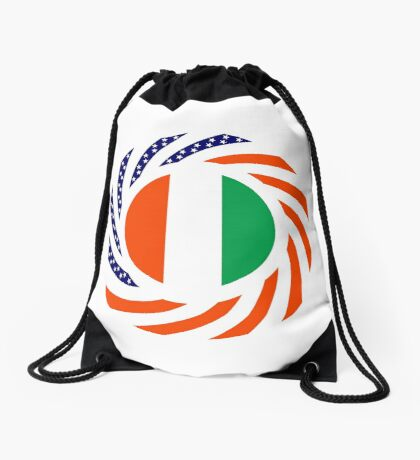 Ivory Coast American Multinational Patriot Flag Series Drawstring Bag