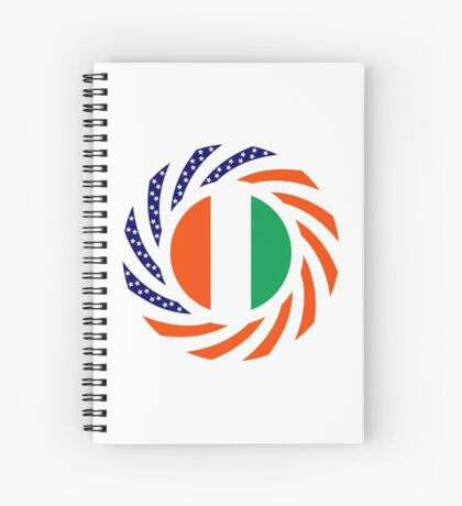Ivory Coast American Multinational Patriot Flag Series Spiral Notebook