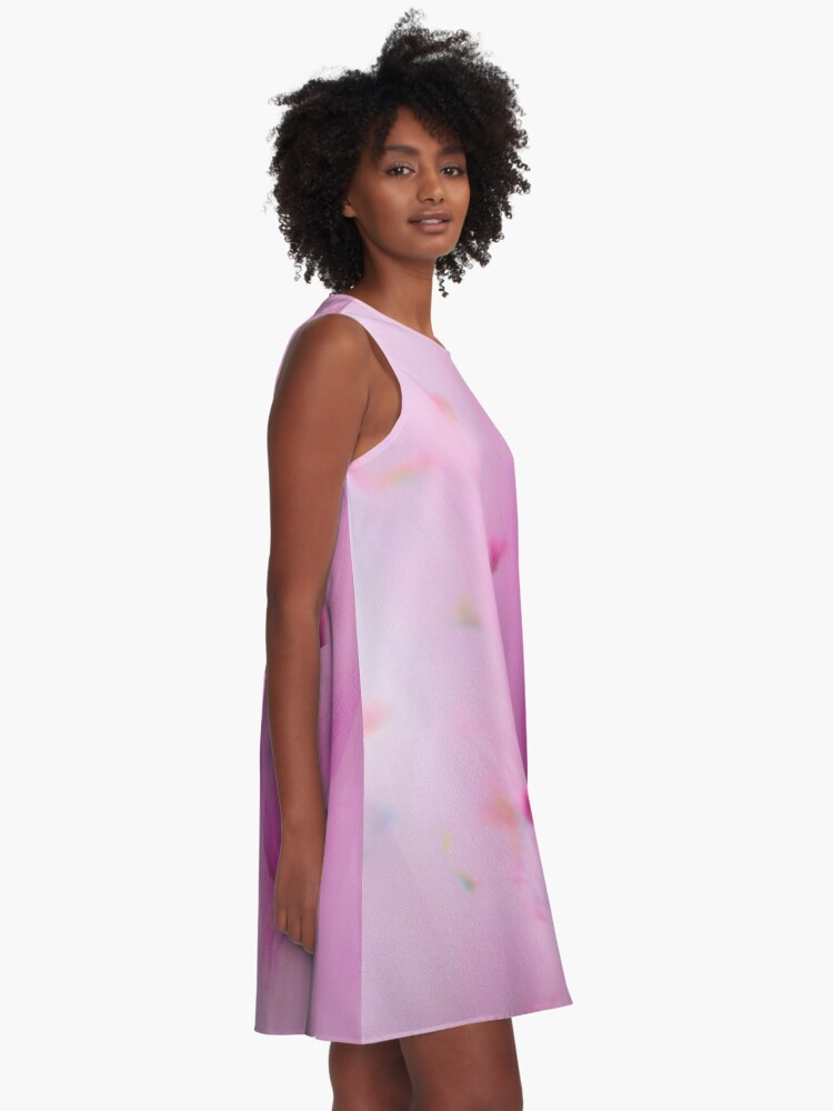 Alternate view of Watercolor Magnolia A-Line Dress