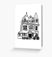 Grand Old Victorian House Greeting Card