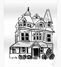 Grand Old Victorian House Poster