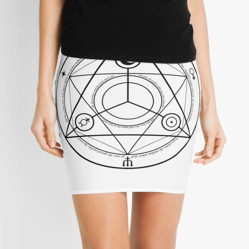 Alchemy Symbol,   pencil_skirt,x1000,front-c,378,0,871,871-bg,f8f8f8