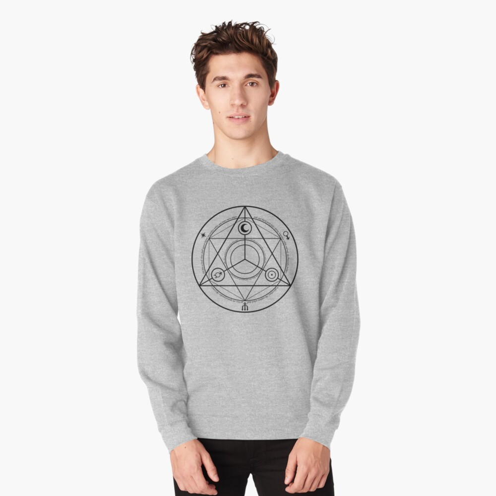 Alchemy Symbol,   ra,sweatshirt,x1850,heather_grey,front-c,105,45,1000,1000-bg,f8f8f8
