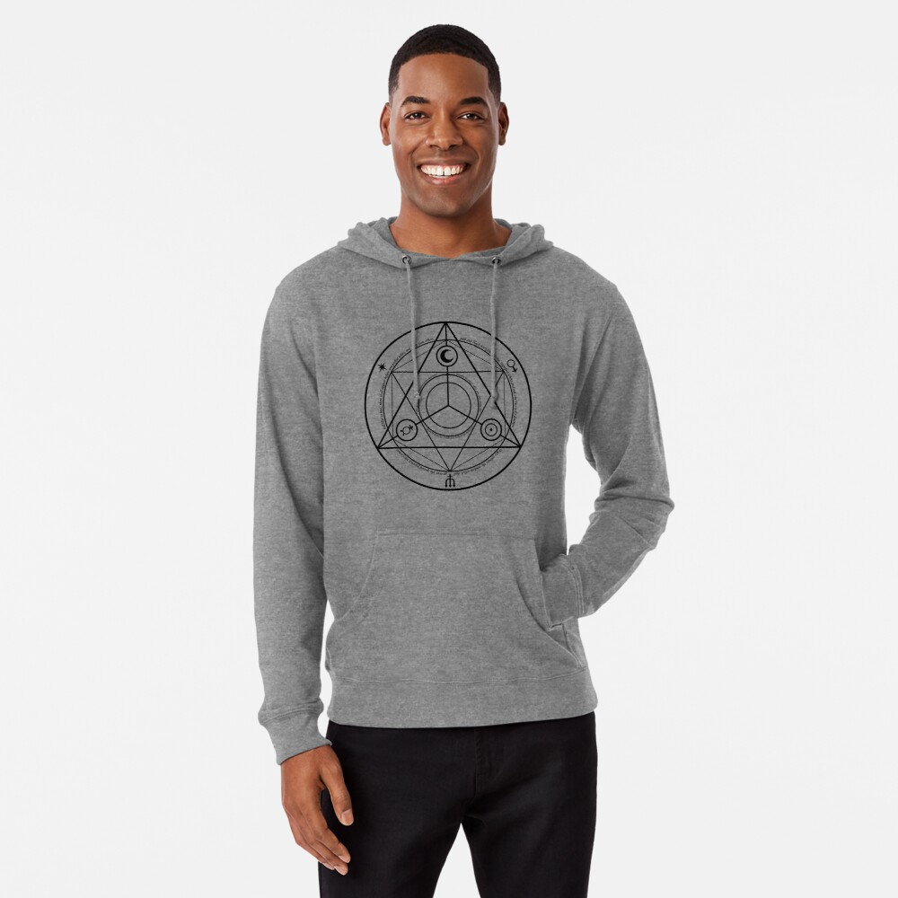 Alchemy Symbol,   ssrco,lightweight_hoodie,mens,grey_lightweight_hoodie,front,square_three_quarter,x1000-bg,f8f8f8