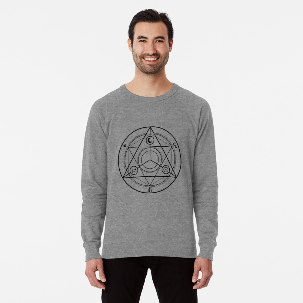 Alchemy Symbol,   ssrco,lightweight_sweatshirt,mens,heather_grey_lightweight_raglan_sweatshirt,front,square_three_quarter,x1000-bg,f8f8f8