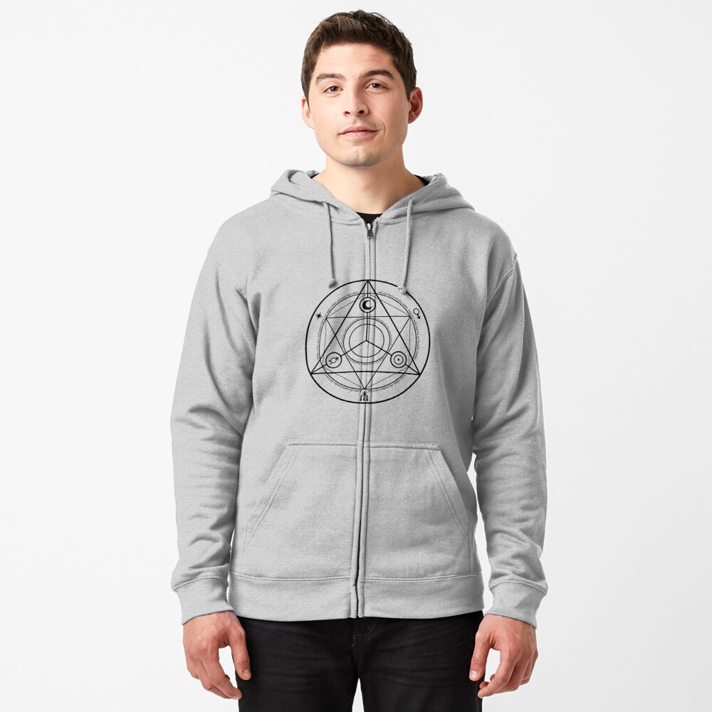 Alchemy Symbol,   ssrco,mhoodiez,mens,heather_grey,front,square_three_quarter,1000x1000-bg,f8f8f8
