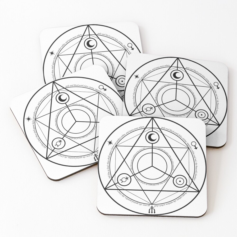 Alchemy Symbol,   ur,coaster_pack_4_flatlay,square,1000x1000