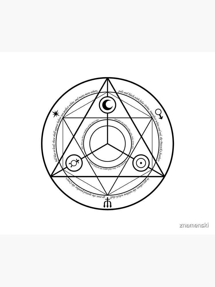 #Transmutation Circle #Sacred Geometry, #Alchemy Symbol, #Magic Symbol, Wicca, Übernatürliche Wesen by znamenski