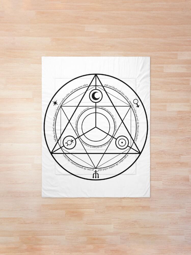 Alternate view of #Transmutation Circle #Sacred Geometry, #Alchemy Symbol, #Magic Symbol, Wicca, Übernatürliche Wesen Comforter