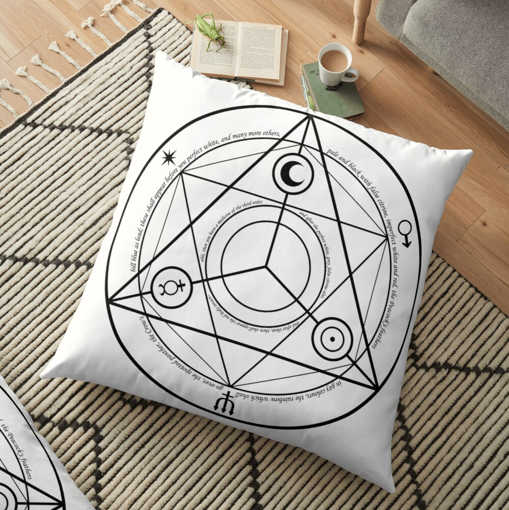 Alchemy Symbol,   throwpillow,36x36,1000x-bg,f8f8f8-c,0,200,1000,1000