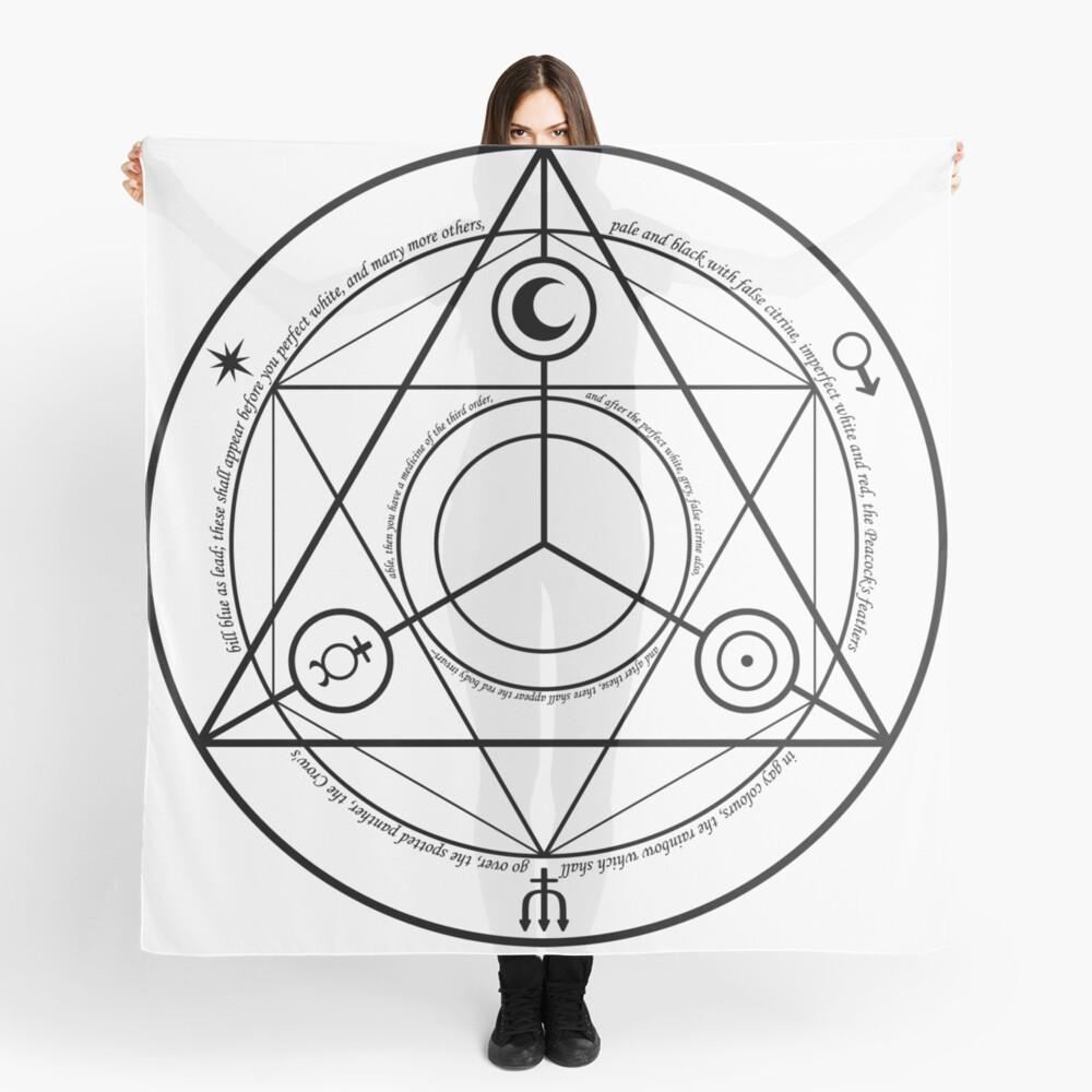 Alchemy Symbol,   scarf,x1050-pad,1000x1000,f8f8f8