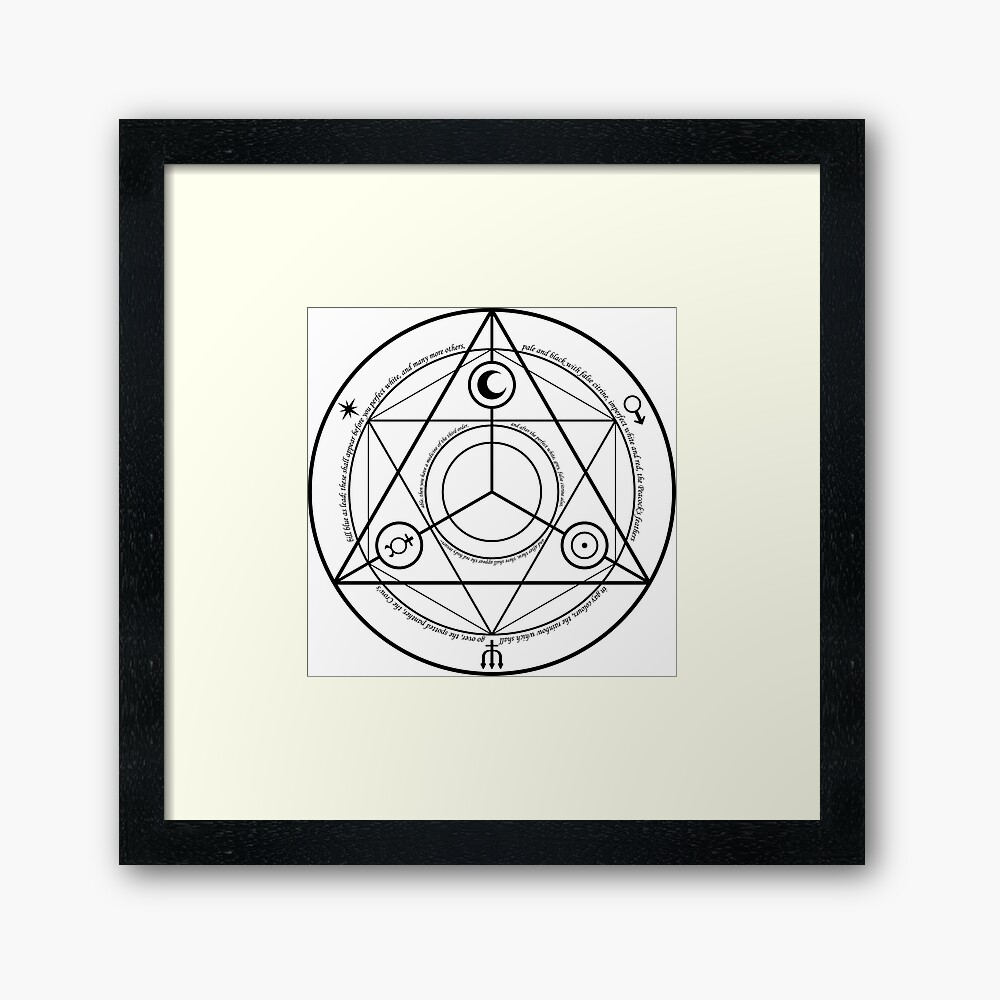 Alchemy Symbol,   fp,840x830,black,off_white,box20,s,f8f8f8-pad,1000x1000,f8f8f8