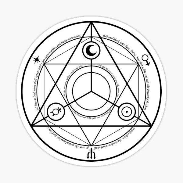 #Transmutation Circle #Sacred Geometry, #Alchemy Symbol, #Magic Symbol, Wicca, Übernatürliche Wesen Sticker