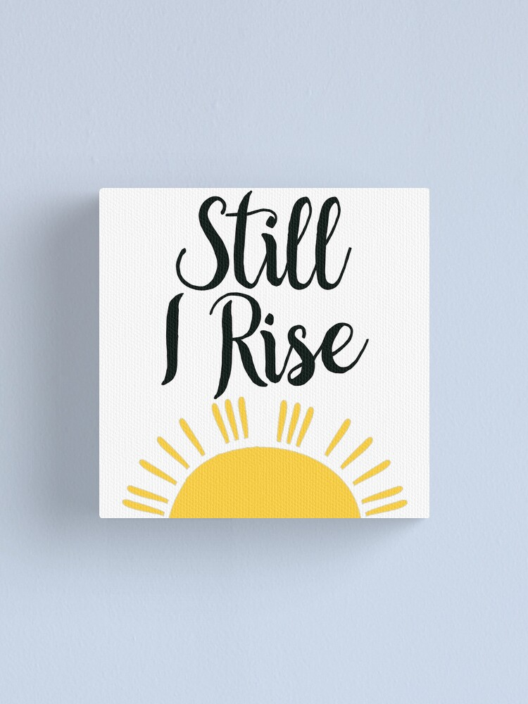 Alternate view of Still I Rise Canvas Print