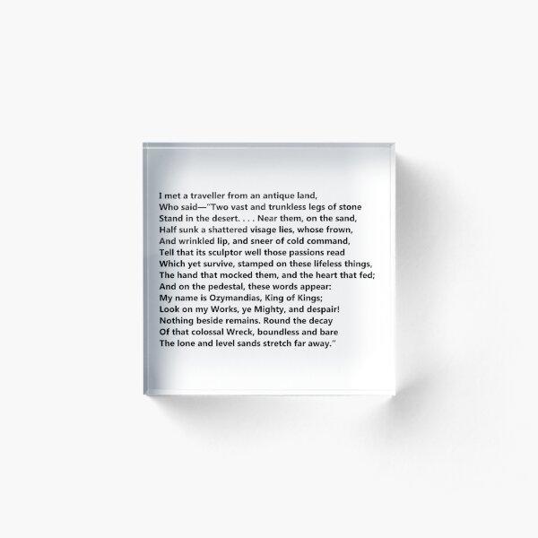 Ozymandias Acrylic Block