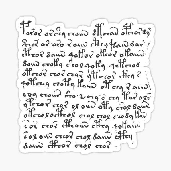 #Voynich #Manuscript #Language #VoynichManuscript Sticker