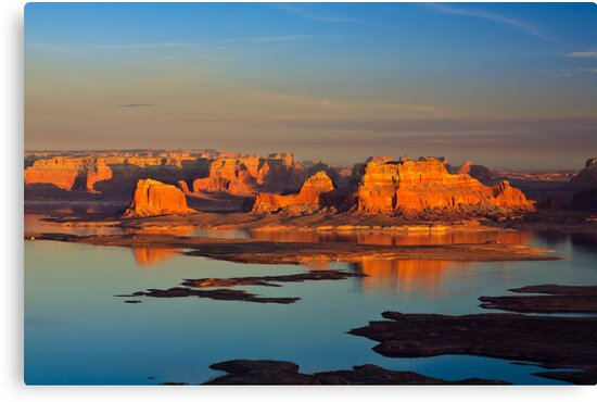 Sunset on Lake Powell by Dick Paige