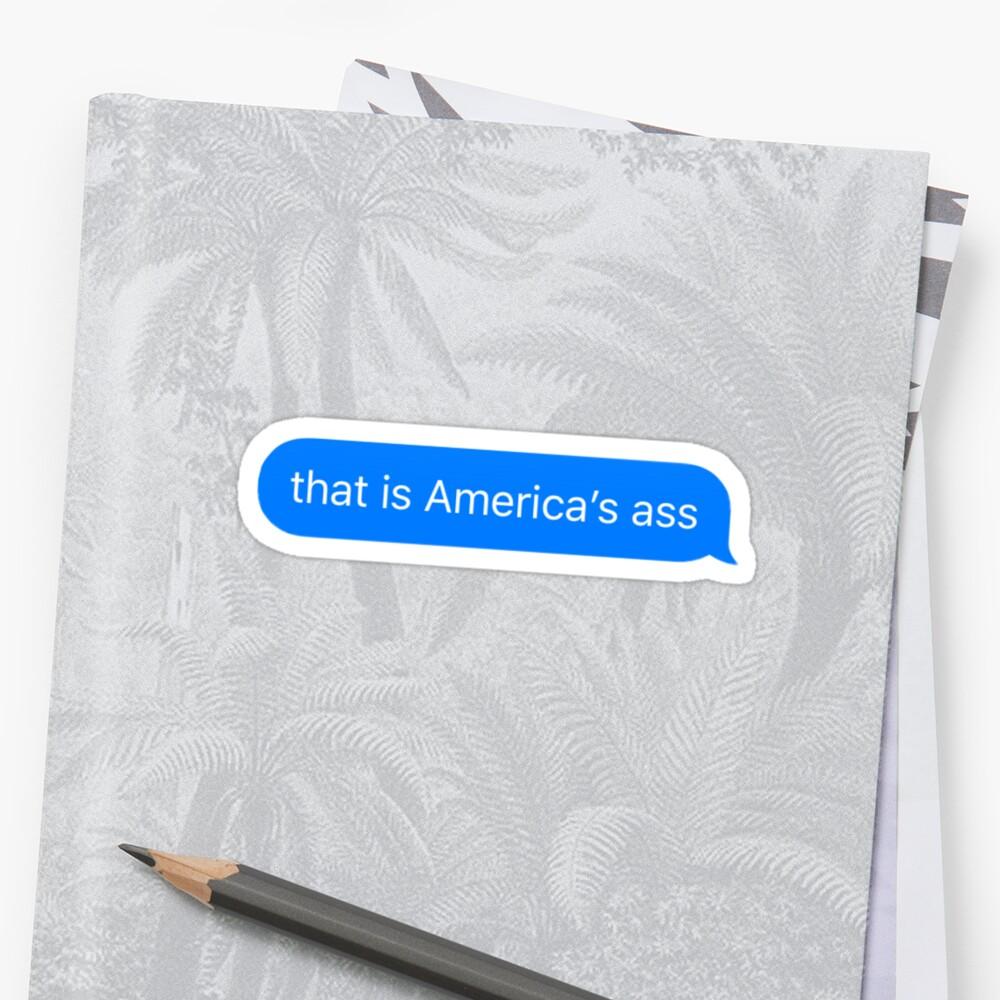el culo de america Pegatina