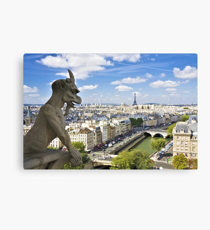 In Homage of the Notre-Dame Cathedral in Paris - LOVE wins in the end! Canvas Print