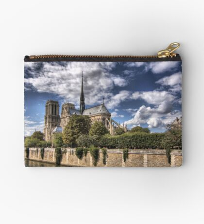 In Homage of the Notre-Dame Cathedral in Paris - LOVE wins in the end! Zipper Pouch