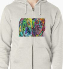 SERIOUS FACES Zipped Hoodie
