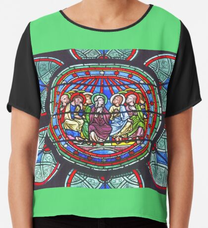 In Homage of the Notre-Dame Cathedral in Paris - LOVE wins in the end! Chiffon Top