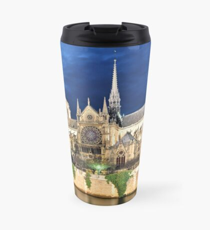 In Homage of the Notre-Dame Cathedral in Paris - LOVE wins in the end! Travel Mug