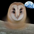 Chernobyl owl on the moon von Quote Daddy