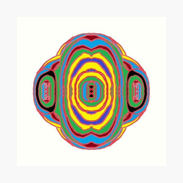Playmat, #circle, #illustration, #design, #art, vector, decoration, shape, color image, separation, square Art Print