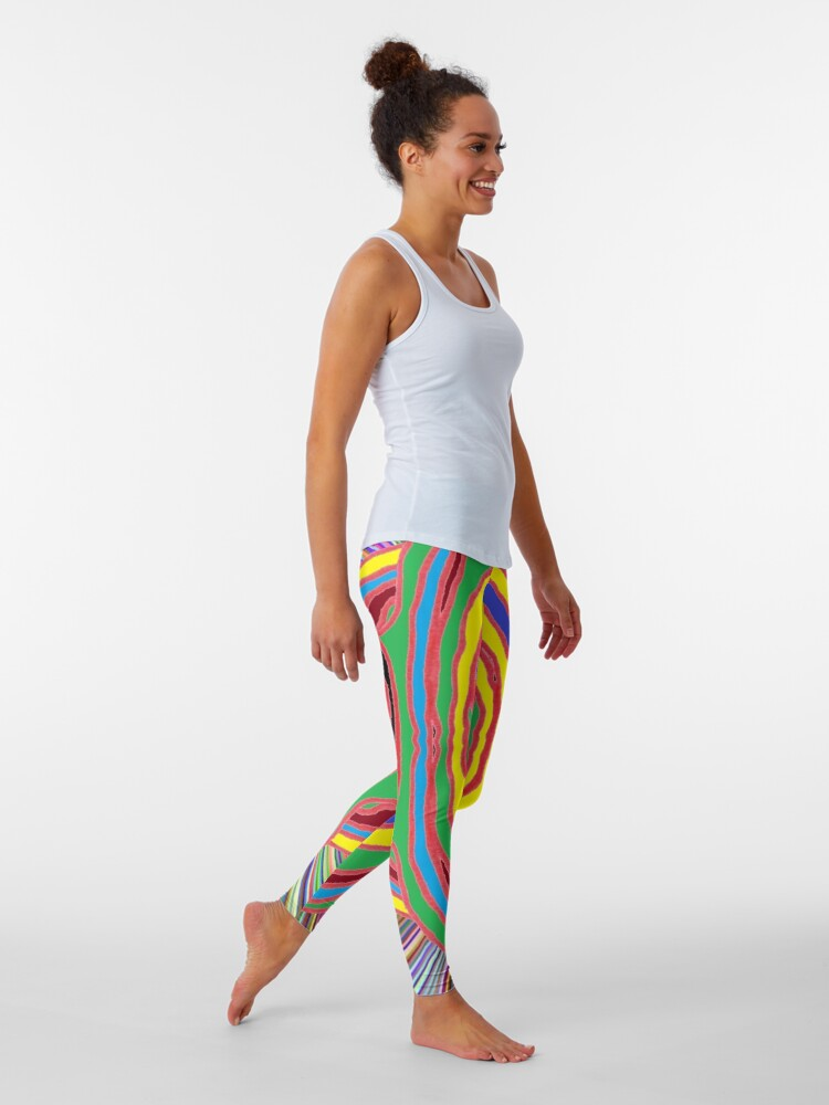Alternate view of #Psychedelic #Art #PsychedelicArt #PsychedelicColors Leggings
