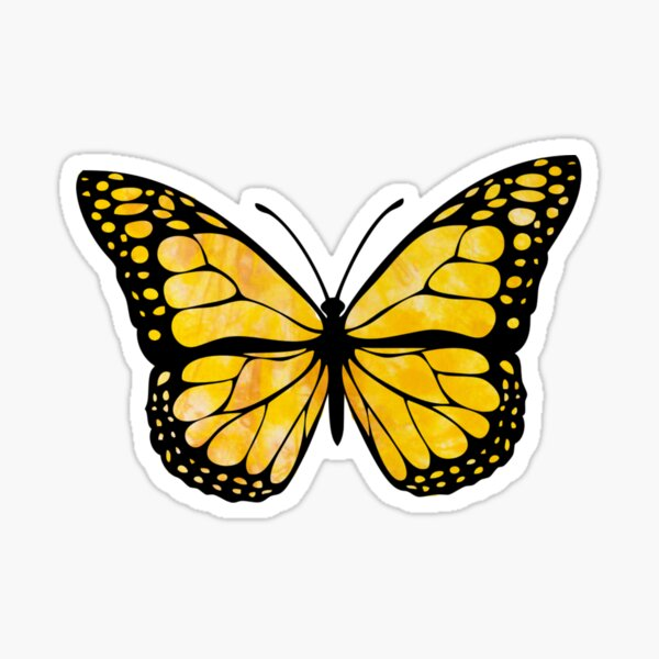 Yellow Butterfly Aesthetic Sticker
