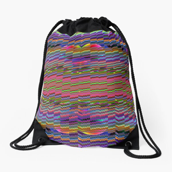 #Psychedelic #Colors #PsychedelicColors #Art Wool Textile fiber Drawstring Bag