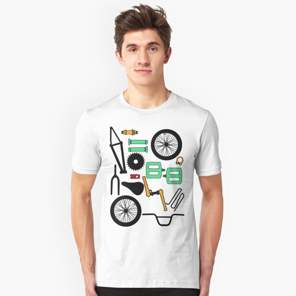 bmx parts Unisex T-Shirt Front