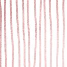 Abstract Tribal Striped Drawing Boho Vintage Minimal Stripes Gold White Rose Rosegold Pink III von SimpleLuxe