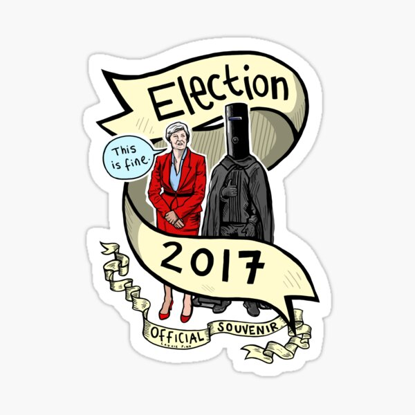 The 2017 General Election Official Laurie Pink Souvenir Tee/print/sticker/clock Sticker