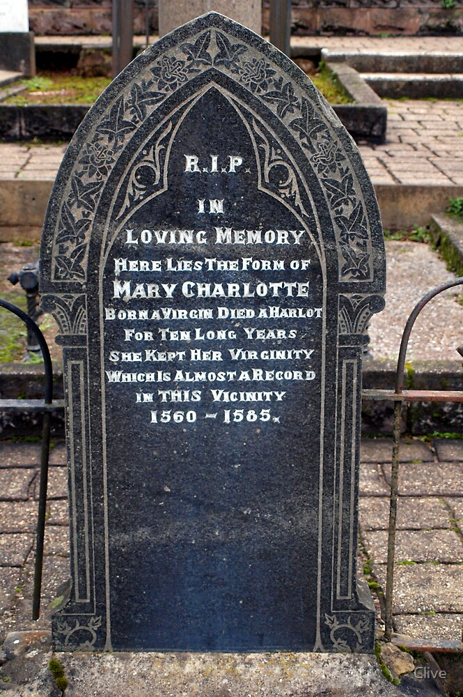 Comical Headstones (2) by Clive