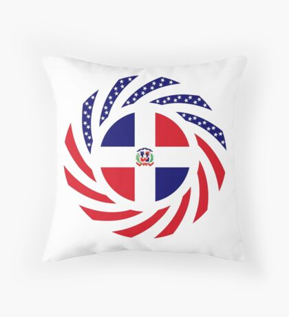 Dominican American Multinational Patriot Flag Series Throw Pillow