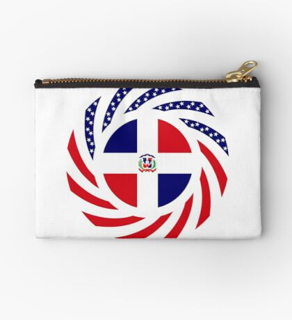 Dominican American Multinational Patriot Flag Series Zipper Pouch