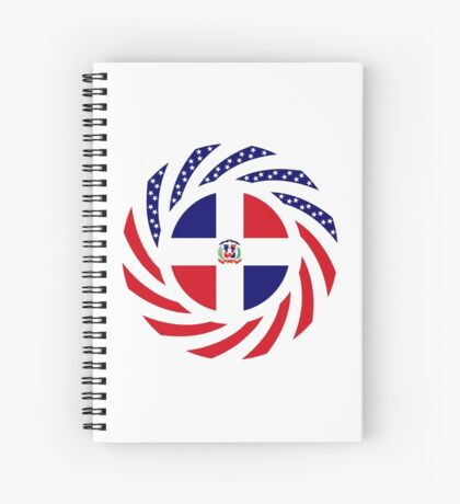 Dominican American Multinational Patriot Flag Series Spiral Notebook