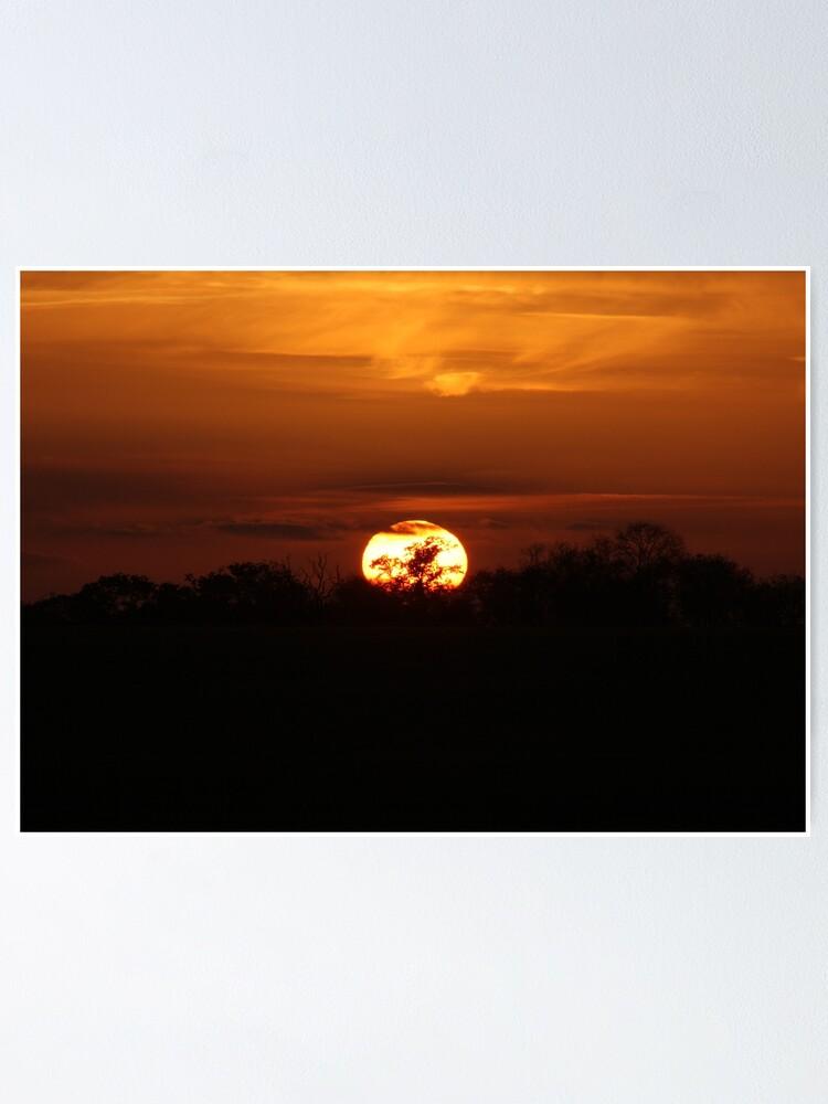 Alternate view of Golden Sunset Poster