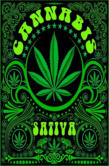 Quot Cannabis Sativa Quot Posters By Gus3141592 Redbubble