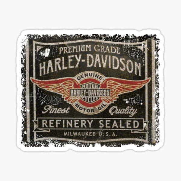 vintage american motorcycle oil Sticker