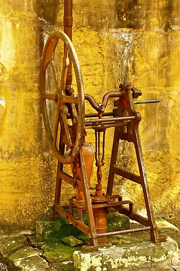 The Old Water Pump Circa 1820's Australia by Ronald Rockman