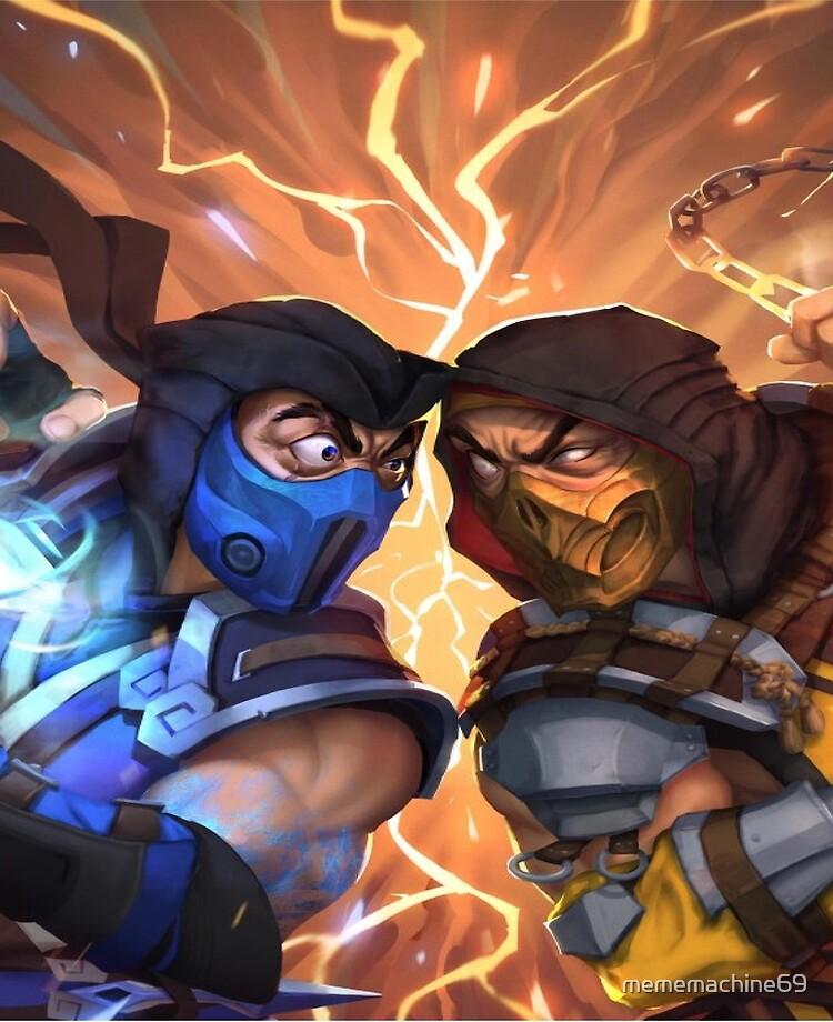 mortal kombat 2 scorpion vs sub zero