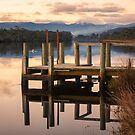 Jetty on Huon River, Tasmania by Chris Cobern