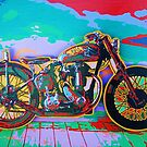 BSA Motorcycle Abstract by Carlos Solorza