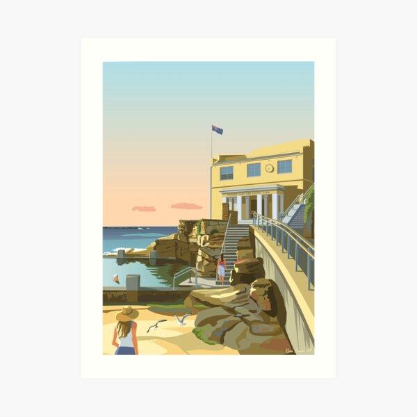 Early swim, Coogee Beach Art Print