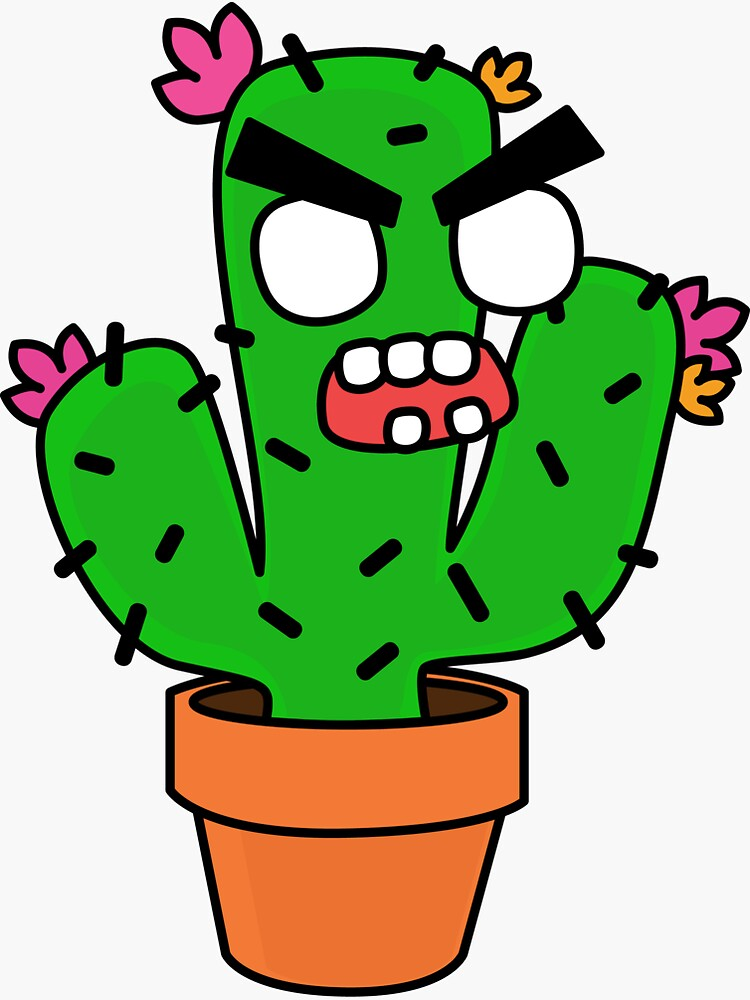 angry zombie cactus by shortstack
