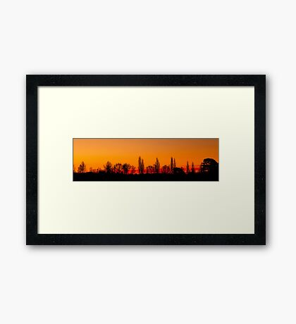 Sunset Panorama 1 Framed Print